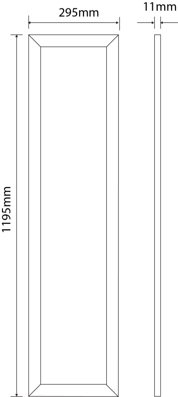 LED Panel 1195 mm x 295 mm | 240 V | 36 W | 6000 Kelvin | 3673 Lumen | weiß | dimmbar (1-10V) – Bild 2