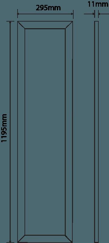 LED Panel 1195 mm x 295 mm | 240 V | 36 W | 3000 Kelvin | 3615 Lumen | weiß | dimmbar (1-10V) – Bild 2