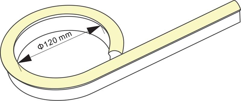 LED Neon Flex Flat | 24 VDC | 12 W/m | 3000K | Warmweiß | >320lm | 10 m | dimmbar – Bild 3