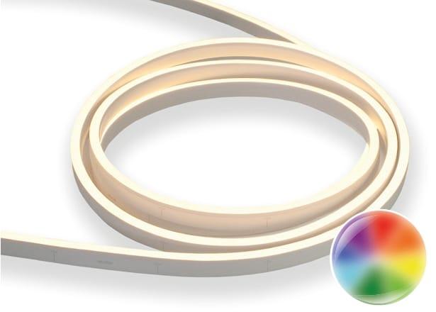 LED Neon Flex Flat | 24 V DC | 12 W / m | RGB |  | 14 m | dimmbar | inkl. 2m Anschlußkabel u. Endkappe