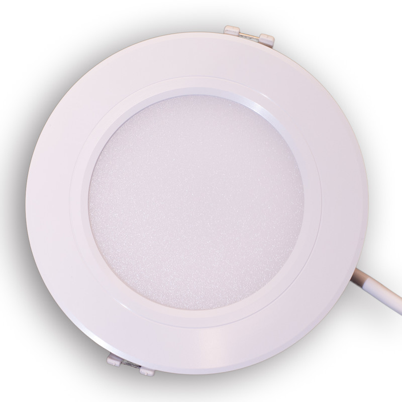Easy Serie RGB-W+WW Panel Downlight 118mm | 230V | 6W | 600 Lumen | 4/8 Zonen | inkl. LED-Treiber – Bild 1
