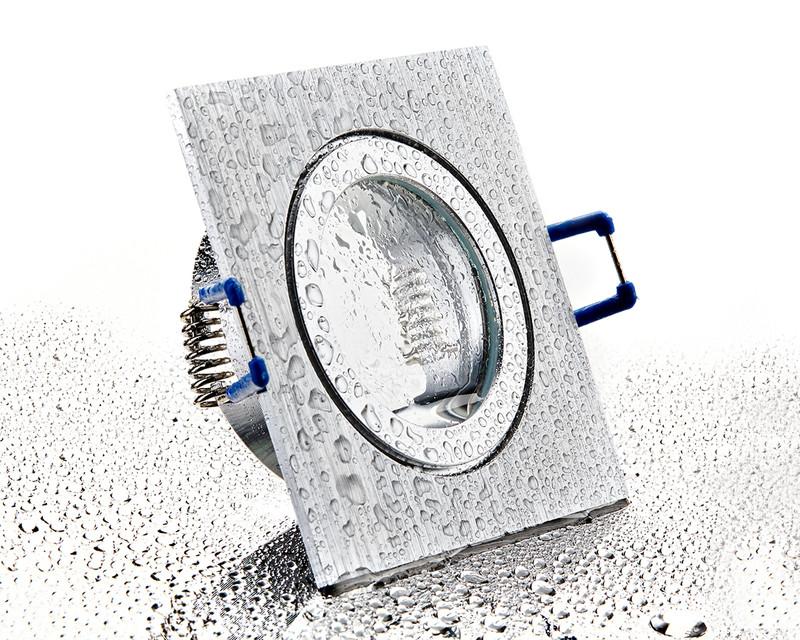 eckiger Alu Einbaurahmen bi-color mit Klickverschluss für Bad/Aussen – Bild 1