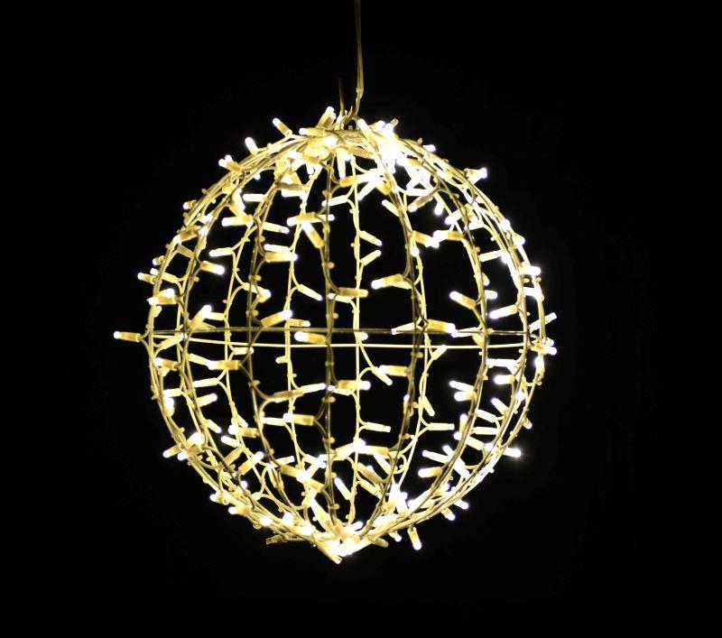 LED Motiv: Lichtball 45x45cm | 200 warmweiße LEDs + 50 blinkend