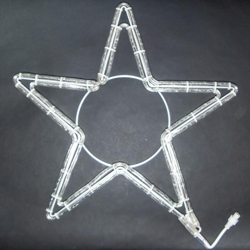 LED Motiv: Sterne 5 Zacken, Ø 60 cm, Alu | Kaltweiß – Bild 1