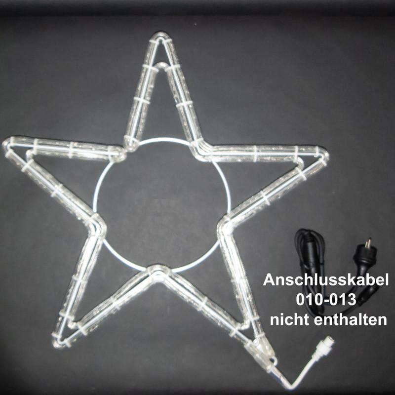 LED Motiv: Sterne 5 Zacken, Ø 60 cm, Alu | Kaltweiß – Bild 3
