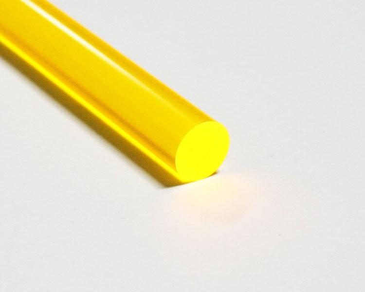 2 m fluo LISA® Acrylstab Rund Ø 10 mm gelb