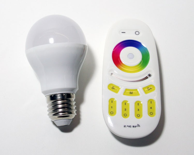 Easy Serie E27 LED Birne RGB-W/WW | 4 Zonen | 6 Watt | 2,4 GHz – Bild 7