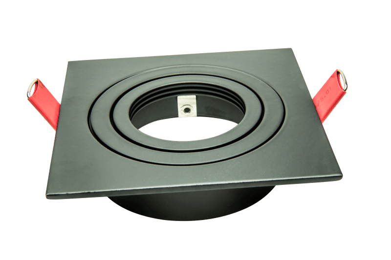 Einbaurahmen Aluminium schwarz | Quadratisch 92 x 92 mm | 30° schwenkbar