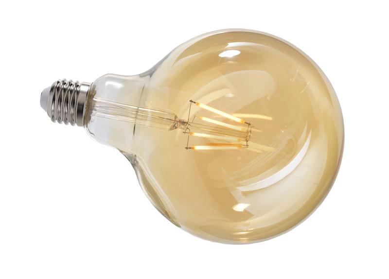 Filament E27 G125 2200K Amber 300° 230V AC 4,40 W 380 lm 2200 K - Leuchtmittel – Bild 1