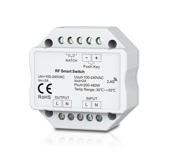 Multi-Serie 230V Funkschalter Doseneinbau,  1.5A, Push-Switch, ohne Fernb.