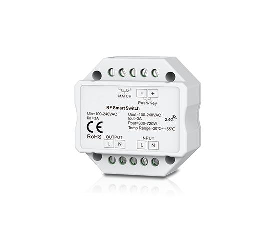 Multi-Serie 230V Funkschalter Doseneinbau,  3A, Push-Switch, ohne Fernb.