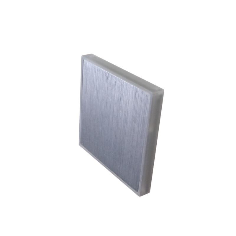 8x8cm Abdeckung geschliffen, seitliche+Front Beleuchtung für 230V.Stufenbel – Bild 1