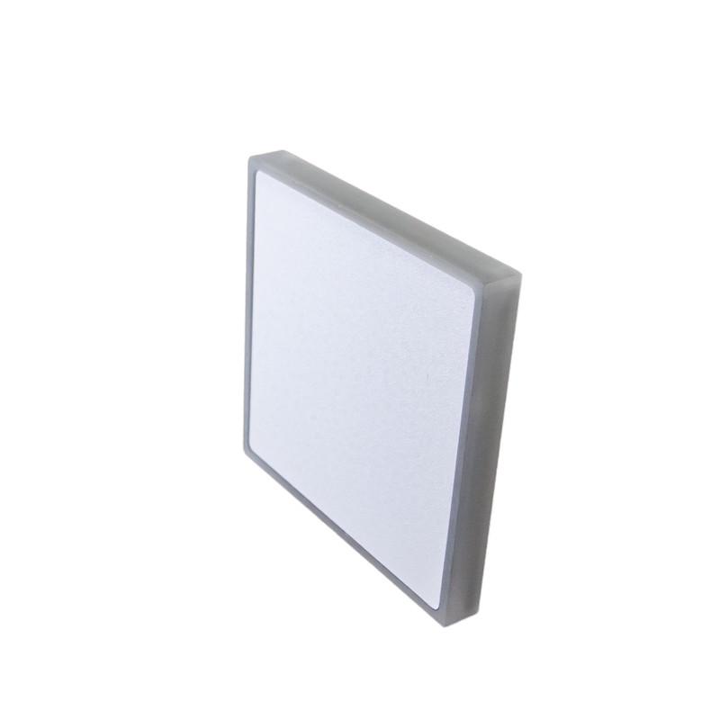 8x8cm Abdeckung Alu Weiß, seitliche + Front Beleuchtung für 230V.Stufenbel – Bild 1