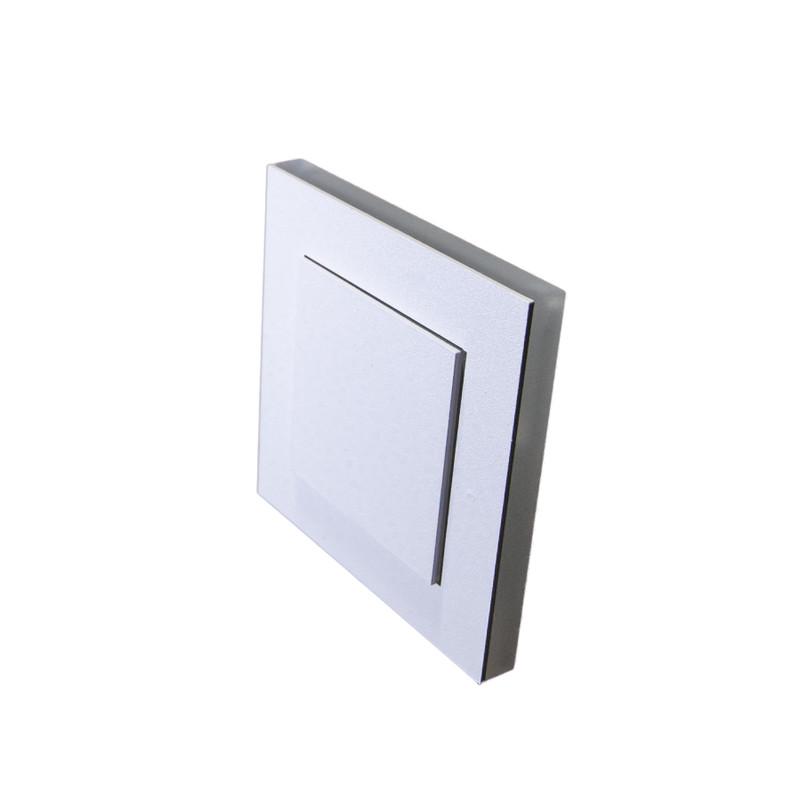 8x8cm Abdeckung Weiß, 2 Ebenen seitlich+Front 230V.Stufenbel – Bild 1