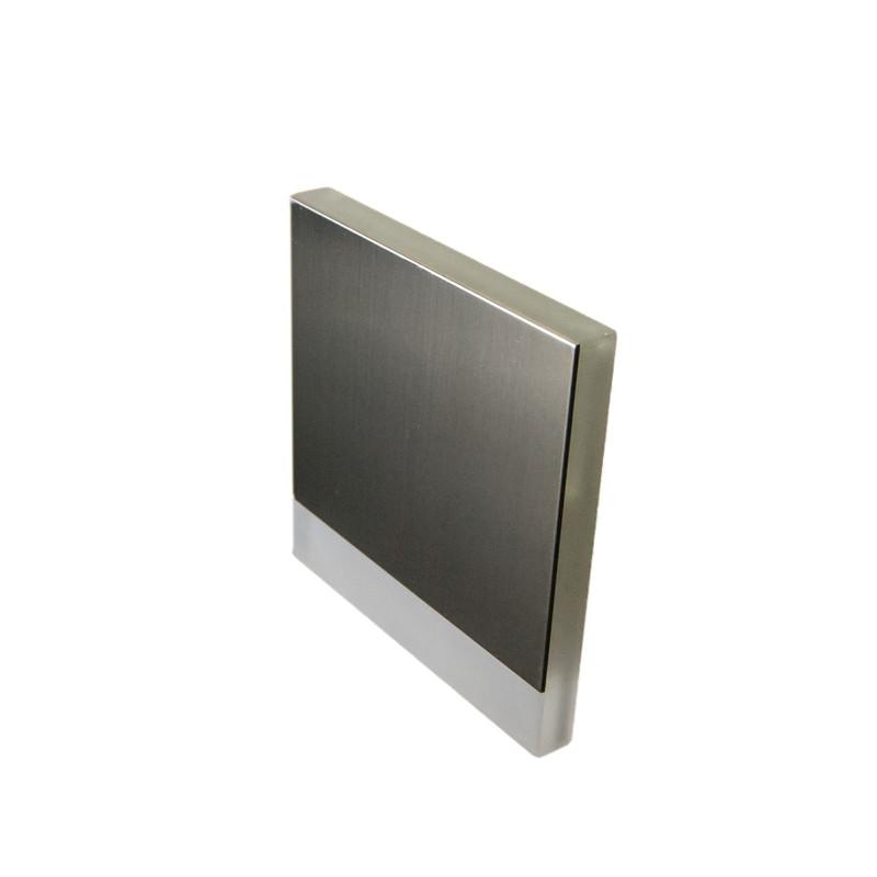 8x8cm Abdeckung edelstahl, seitliche+Front Beleuchtung für 230V.Stufenbel – Bild 1