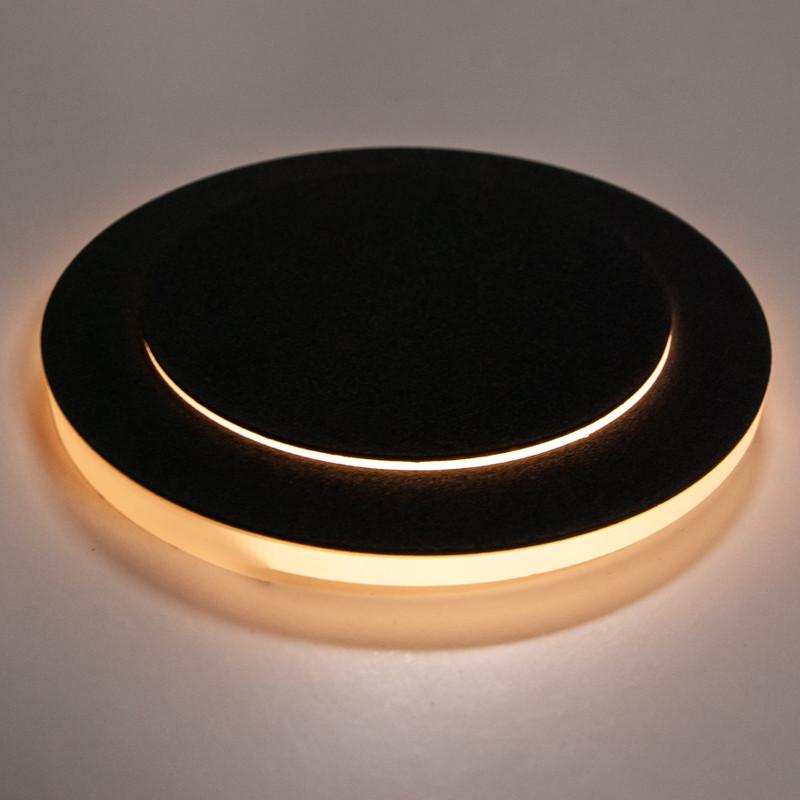 Ø 11cm Abdeckung Anthrazit 2 Ebenen, seitliche+Front Beleuchtung, Stufenbel – Bild 3