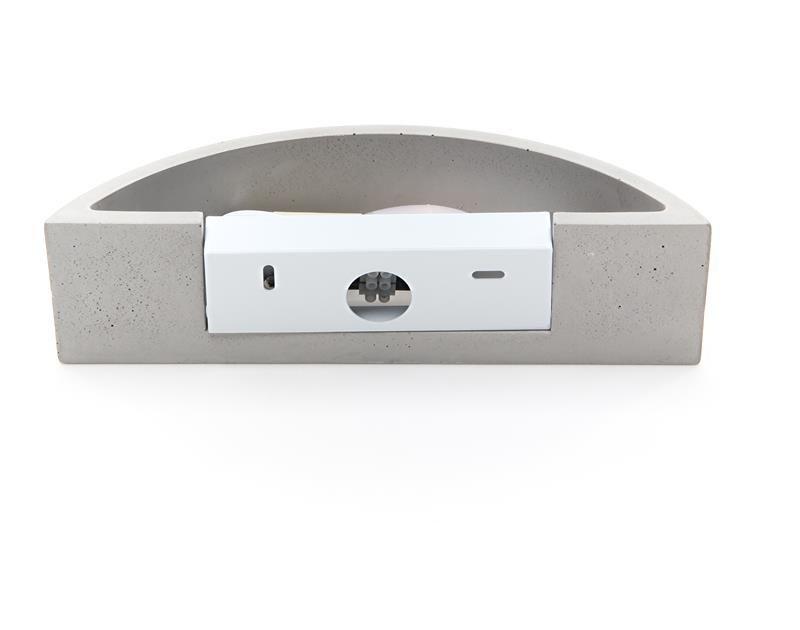 Sarin grau 230V AC 1x max. 25 W - Wandaufbauleuchte – Bild 3