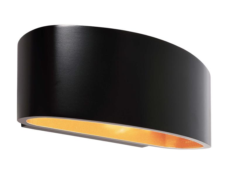 Arietis schwarz 230V AC 1x max. 42 W - Wandaufbauleuchte – Bild 1