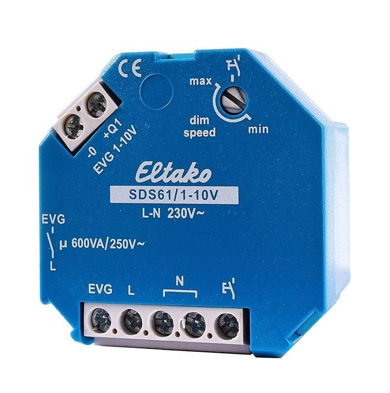 Eltako Steuerdimmschalter SDS61/1-10V Blau 230V AC - Controller – Bild 1