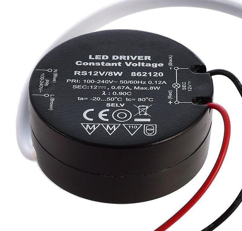 ROUND, RS12V/8W 0-340 mA 12V DC Schwarz 230V AC 8 W - Netzgerät – Bild 2