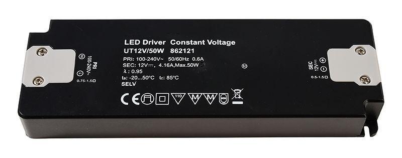 FLAT, UT12V/50W 0-416 mA 12V DC Schwarz 230V AC 50 W - Netzgerät – Bild 1