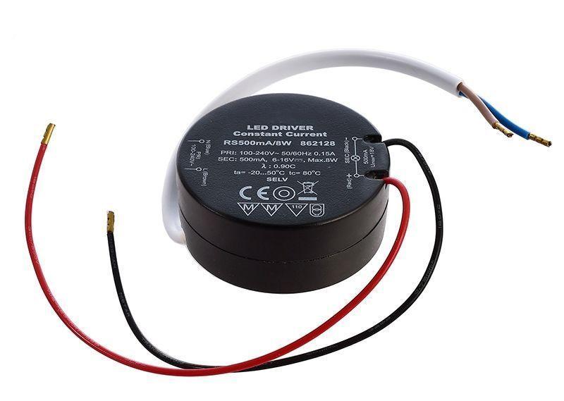 ROUND, RS500mA/8W 500 mA 6-16V DC Schwarz 230V AC 8 W - Netzgerät – Bild 1