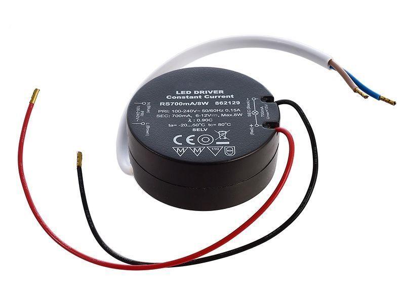 ROUND, RS700mA/8W 700 mA 6-12V DC Schwarz 230V AC 8 W - Netzgerät – Bild 1