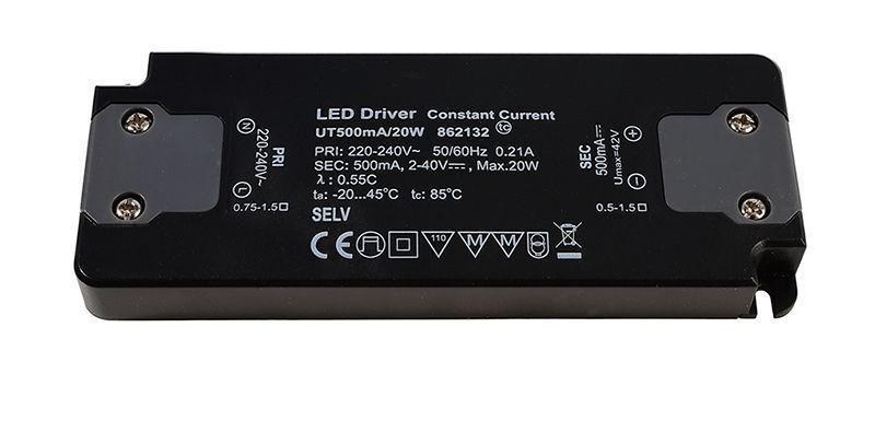 FLAT, Power Supply 500mA 20W 500 mA 2-40V DC Schwarz 230V AC 20 W - Netzgerät – Bild 1