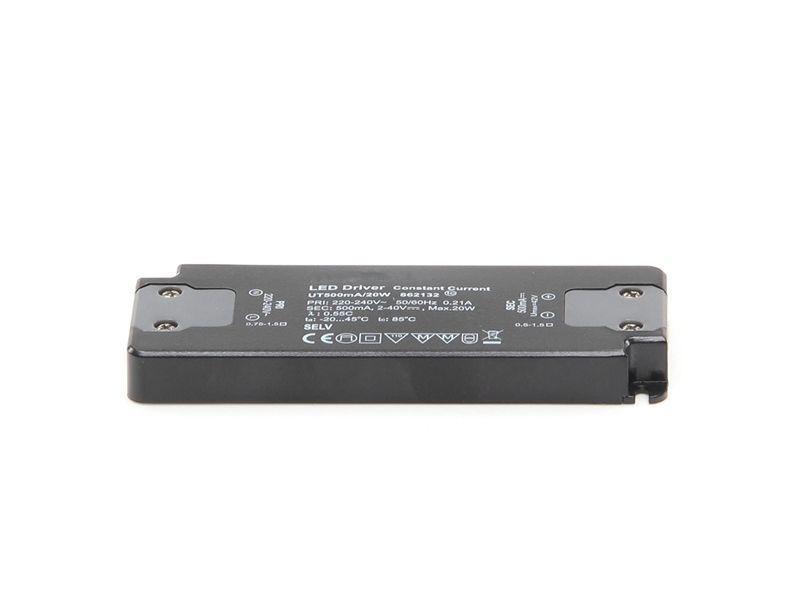 FLAT, Power Supply 500mA 20W 500 mA 2-40V DC Schwarz 230V AC 20 W - Netzgerät – Bild 2