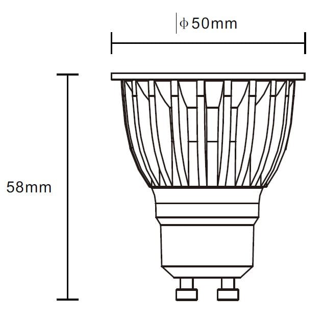 6W LED Spot GU10 dim to warm 45° 350lm – Bild 9