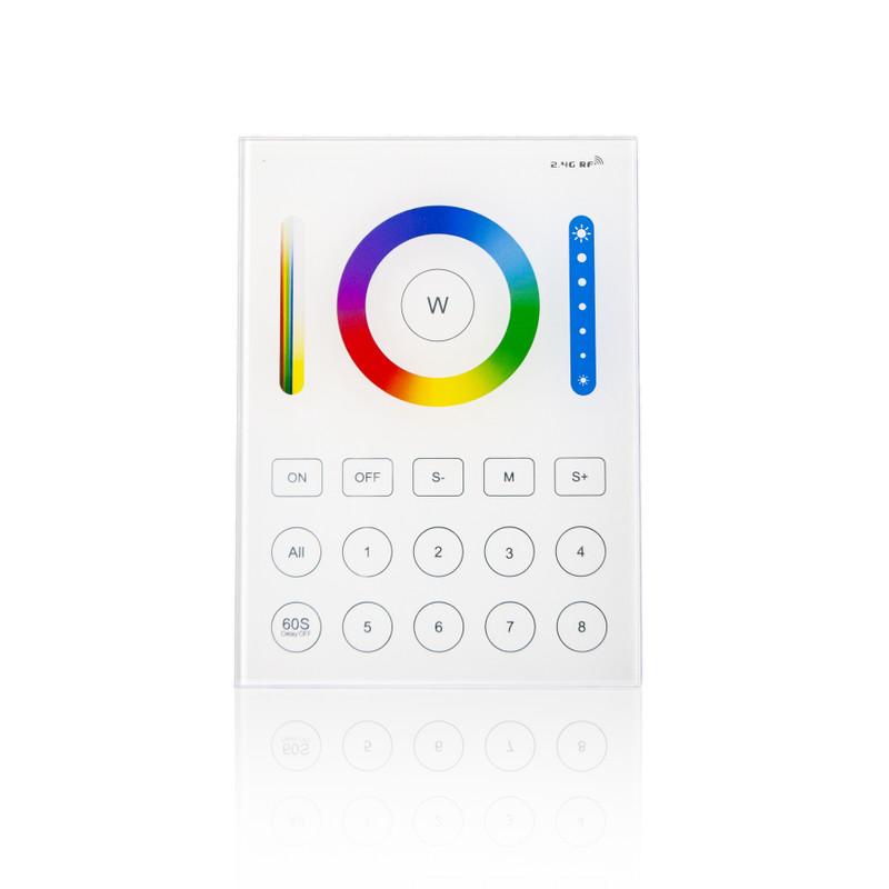 8 Zonen Easy Serie Touch Wandfernbedienung für RGB-W+WW  LED mit Glasoberfläche| 2,4 GHz – Bild 2