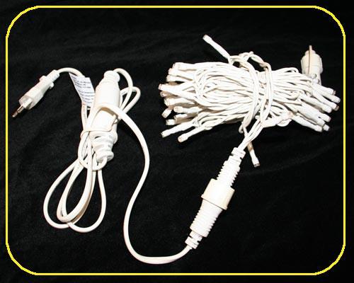 LED Cord Light 6 m, 60 kaltweiße LEDs, Kabel weiß – Bild 3