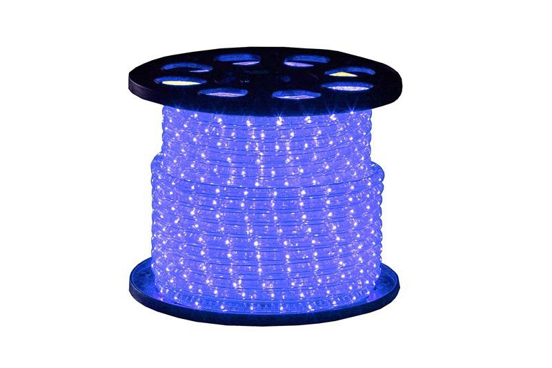Lichtschlauch Klar | Blau | 45m 230V | Rund 13mm