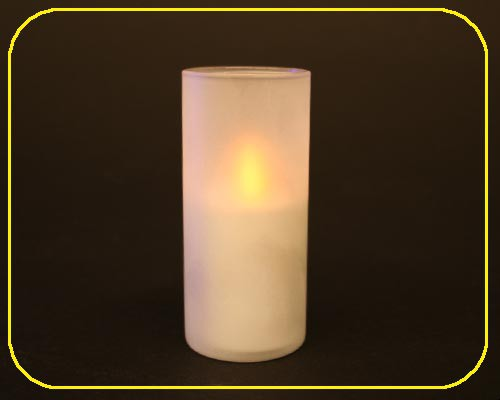 Candle Light-1er Set mit Glas, ohne AAA-Batterien – Bild 1