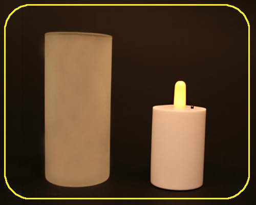 Candle Light-1er Set mit Glas, ohne AAA-Batterien – Bild 3
