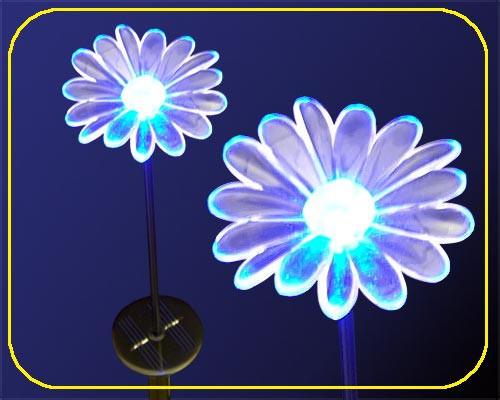 Solar LED Gartenstab Blume RGB – Bild 2