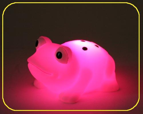 Frosch klein, on/off, LED Farbwechsel - inkl. Batterien – Bild 2