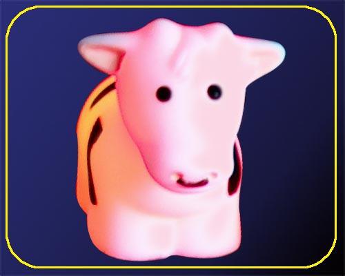 Kuh klein, On/Off, RGB Farbwechsel - inkl. Batterien – Bild 3