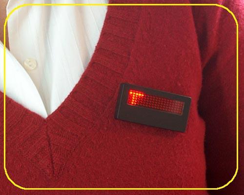 LED Namecard Klein | Namensschild Rot  | frei programmierbar  – Bild 1