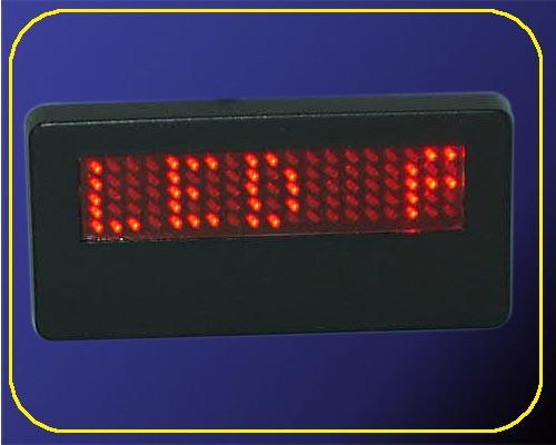 LED Namecard Klein | Namensschild Rot  | frei programmierbar  – Bild 2