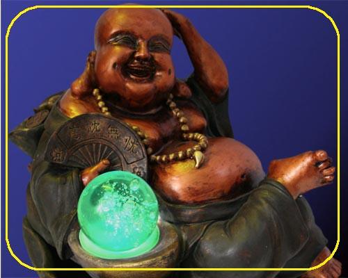 Zimmerbrunnen Big Buddha mit Trafo 12 V – Bild 2