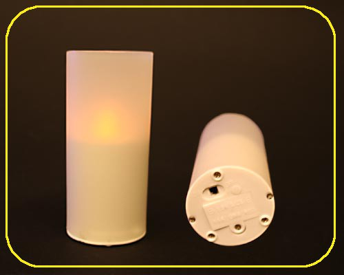 Candle Light-1er Set mit Plastik-Glas, ohne Bat. – Bild 2