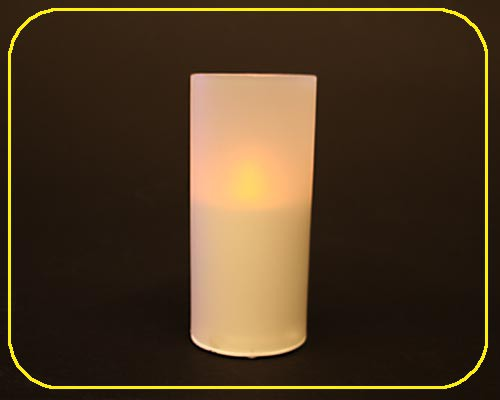 Candle Light-1er Set mit Plastik-Glas, ohne Bat. – Bild 4