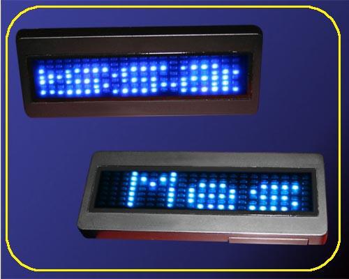 LED Namecard Medium | Namensschild Blau  | frei programmierbar  – Bild 1