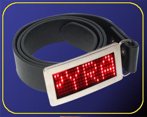 rote LED Lauflicht Gürtelschnalle – Bild 4
