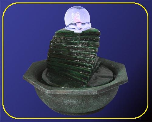 Zimmerbrunnen Treppe schwarz mit Trafo 12 V – Bild 1