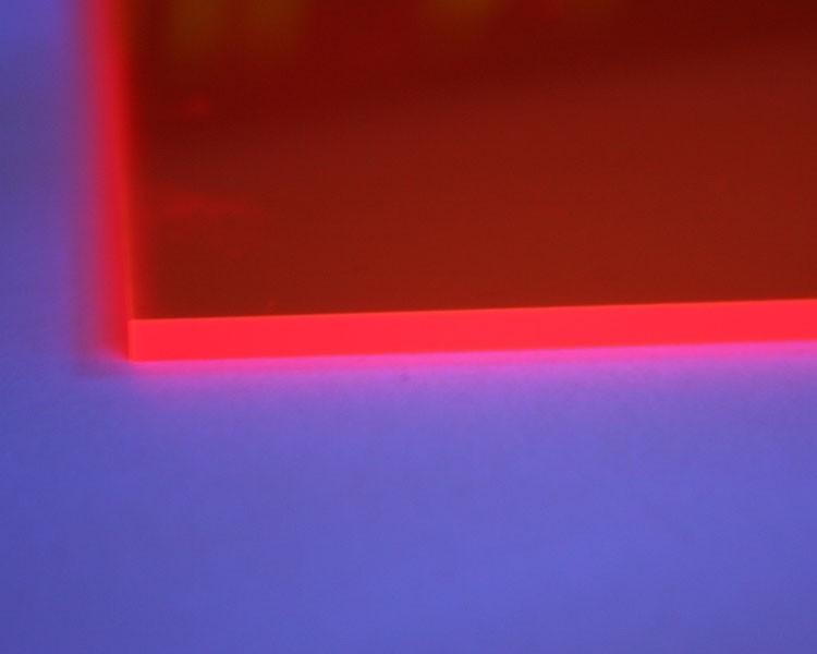 Lucy Leuchtplatte 3mm | 2030x1520 mm | orange – Bild 1