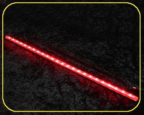 12 V LED Leiste 10x10mm 24 LEDs 61 cm rot