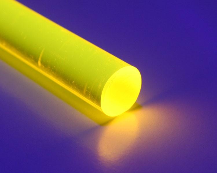 2 m fluo LISA® Acrylstab Rund Ø 15 mm gelb
