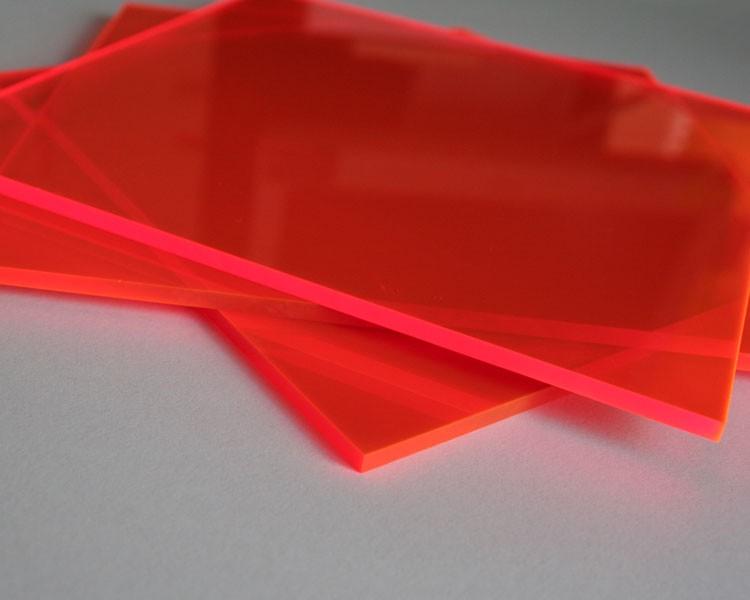 Lucy Leuchtplatte 3mm | 1520x675 mm | Orange – Bild 1